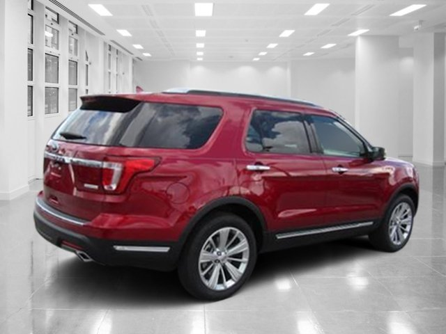 2018 Ruby Red Metallic Tinted Clearcoat Ford Explorer Limited 4 Door Automatic Intercooled Turbo Premium Unleaded I-4 2.3 L/140 Engine