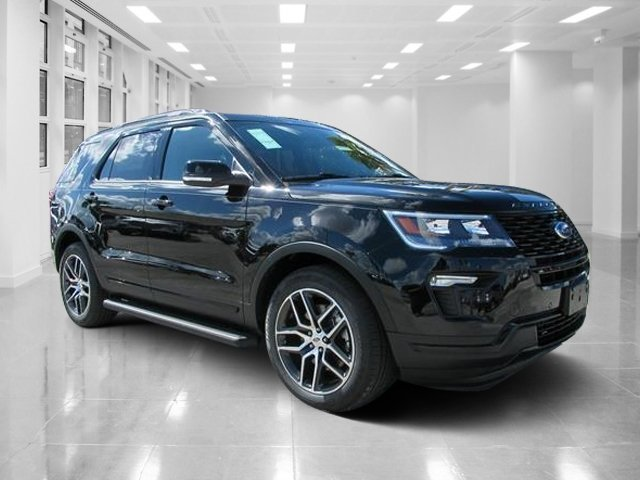 2019 Agate Black Metallic Ford Explorer Sport Automatic 4 Door Twin Turbo Premium Unleaded V-6 3.5 L/213 Engine SUV AWD