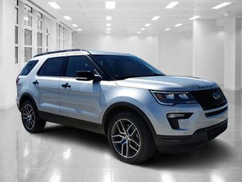 2018 Ingot Silver Metallic Ford Explorer Sport Twin Turbo Premium Unleaded V-6 3.5 L/213 Engine SUV Automatic AWD