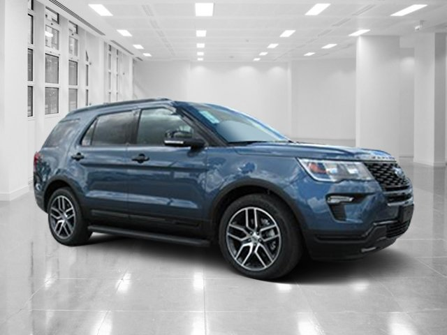 2018 Blue Metallic Ford Explorer Sport 4 Door Automatic SUV Twin Turbo Premium Unleaded V-6 3.5 L/213 Engine AWD