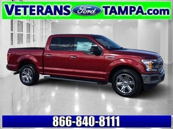 2018 Ruby Red Metallic Tinted Clearcoat Ford F-150 XLT Twin Turbo Regular Unleaded V-6 3.5 L/213 Engine Truck Automatic