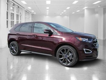 2018 Burgundy Velvet Metallic Tinted Clearcoat Ford Edge Sport 4 Door Twin Turbo Premium Unleaded V-6 2.7 L/164 Engine SUV AWD