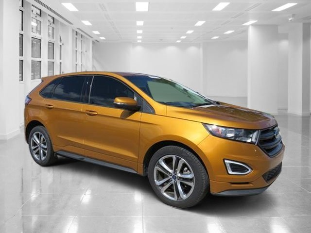 Electric Spice Metallic Ford Edge Sport Suv  Door Automatic Twin Turbo Premium Unleaded V