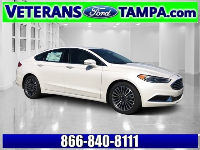 2018 White Platinum Metallic Tri-Coat Ford Fusion SE Intercooled Turbo Regular Unleaded I-4 1.5 L/91 Engine FWD Sedan 4 Door Automatic