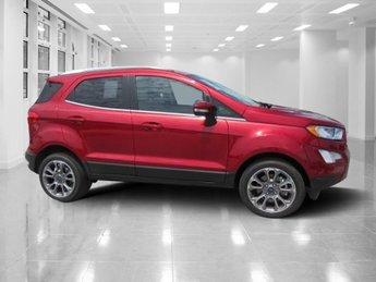 2018 Ruby Red Metallic Tinted Clearcoat Ford EcoSport Titanium 4 Door SUV Automatic Intercooled Turbo Regular Unleaded I-3 1.0 L/61 Engine FWD