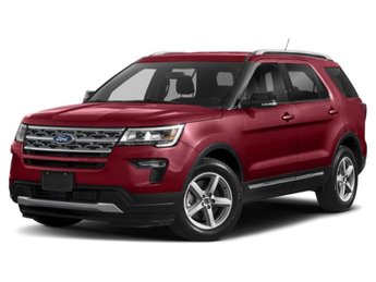 2019 Ruby Red Metallic Tinted Clearcoat Ford Explorer XLT 4 Door FWD 3.5L V6 Engine