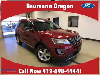 2017 Ruby Red Metallic Tinted Clearcoat Ford Explorer XLT 4X4 SUV Automatic 3.5L V6 Engine 4 Door