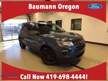 2018 Blue Metallic Ford Explorer XLT SUV 4X4 4 Door 3.5L V6 Engine Automatic