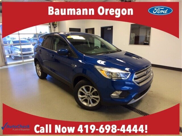 2017 Lightning Blue Metallic Ford Escape SE 4 Door FWD Automatic 1.5L 4 cyls Engine SUV