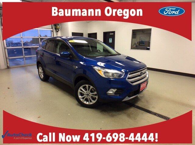 2019 Lightning Blue Metallic Ford Escape SE Automatic 4X4 SUV 1.5L 4 cyls Engine 4 Door