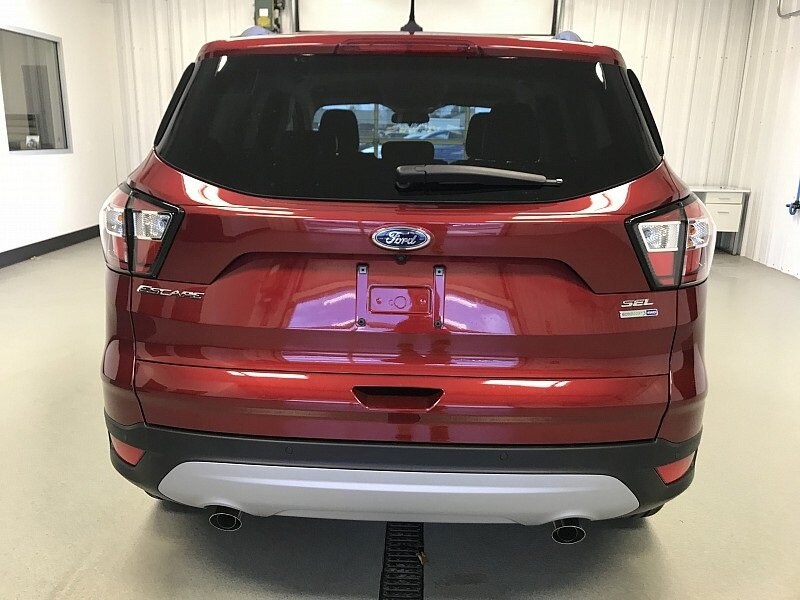 2018 Ruby Red Metallic Tinted Clearcoat Ford Escape SEL Automatic 1.5L EcoBoost Engine SUV 4X4 4 Door