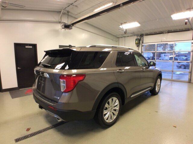 2021 Stone Gray Metallic Ford Explorer Limited 4 Door 4X4 2.3L 4 cyls Engine SUV Automatic