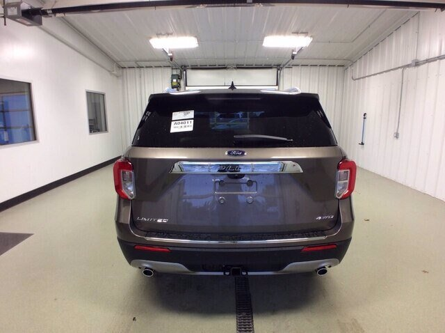2021 Stone Gray Metallic Ford Explorer Limited 2.3L 4 cyls Engine Automatic 4X4 4 Door SUV