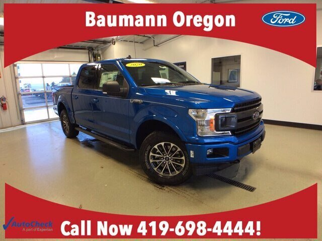 2020 Velocity Blue Metallic Ford F-150 XLT 4X4 4 Door Automatic 2.7L V6 EcoBoost Engine Truck