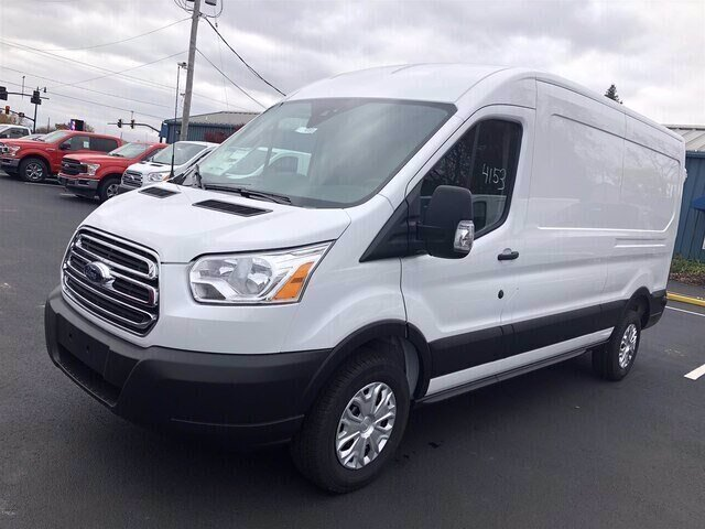 2019 Oxford White Ford Transit-250 Base 3.7L V6 Engine 3 Door Automatic Van RWD