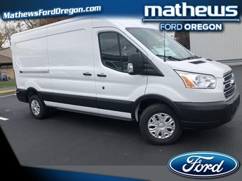 2019 Oxford White Ford Transit-250 w/Sliding Pass-Side Cargo Door Automatic Van RWD 3.7L V6 Engine 3 Door
