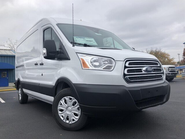 2019 Oxford White Ford Transit-250 w/Sliding Pass-Side Cargo Door 3.7L V6 Engine RWD Van