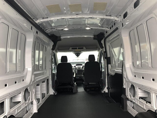 2019 Oxford White Ford Transit-250 w/Sliding Pass-Side Cargo Door 3.7L V6 Engine Automatic RWD Van