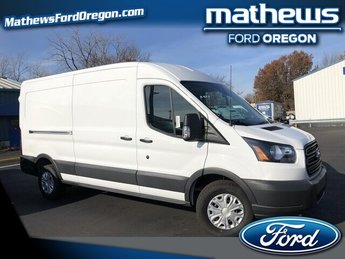 2018 Oxford White Ford Transit-250 w/Sliding Pass-Side Cargo Door Automatic 3.7L V6 Engine Van 3 Door RWD