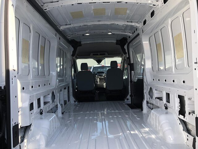 2018 Oxford White Ford Transit-250 w/Sliding Pass-Side Cargo Door Van Automatic 3.7L V6 Engine RWD