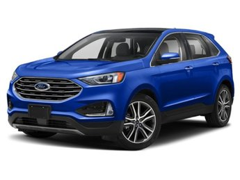 2020 Atlas Blue Metallic Ford Edge SEL Automatic 4 Door 2.0L 4 cyls Engine SUV