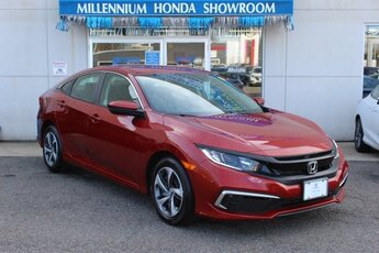 2019 Molten Lava Pearl Honda Civic LX 4 Door FWD 2.0L I4 DOHC 16V i-VTEC Engine Sedan