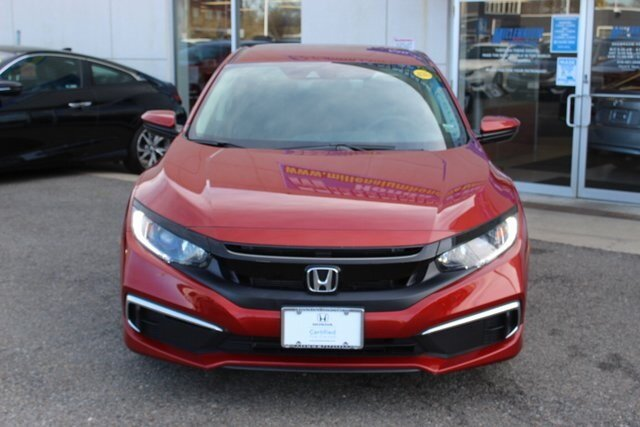 2019 Molten Lava Pearl Honda Civic LX 2.0L I4 DOHC 16V i-VTEC Engine Sedan 4 Door FWD