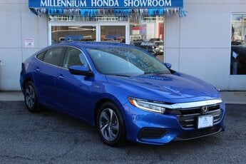 2019 Aegean Blue Metallic Honda Insight LX Automatic (CVT) FWD 4 Door 1.5L I4 SMPI Hybrid DOHC 16V LEV3-SULEV30 Engine