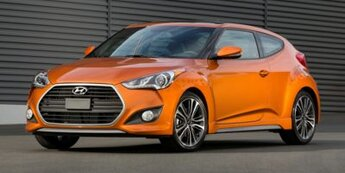 2016 Vitamin C Hyundai Veloster Turbo 3 Door FWD 1.6L 16-Valve Twinscroll Turbo I4 GDI DOHC Engine Automatic Hatchback
