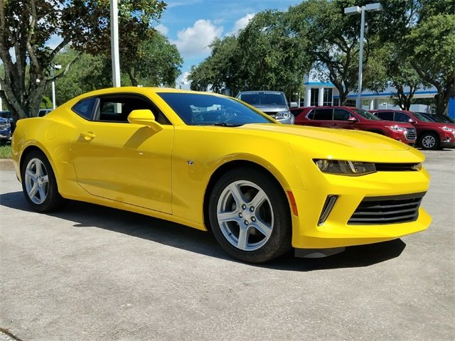 2018 Bright Yellow Chevrolet Camaro 1LT 2 Door Coupe Automatic 3.6L V6 DI Engine