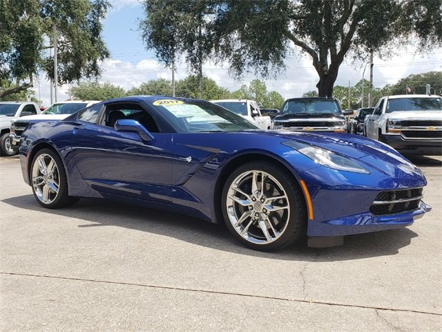 2017 Admiral Blue Metallic Chevy Corvette Stingray Z51 2 Door RWD Automatic Coupe