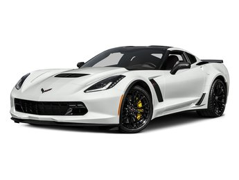 2017 Arctic White Chevy Corvette Z06 2 Door RWD Coupe Manual V8 Supercharged Engine