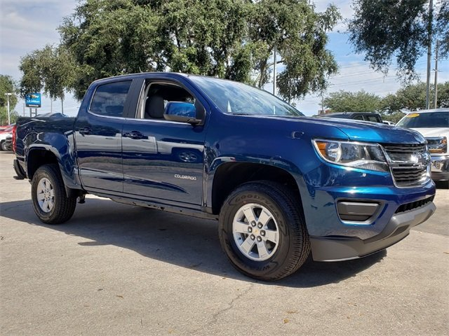 2019 Pacific Blue Metallic Chevy Colorado Work Truck RWD 4 Door V6 Engine Automatic Truck