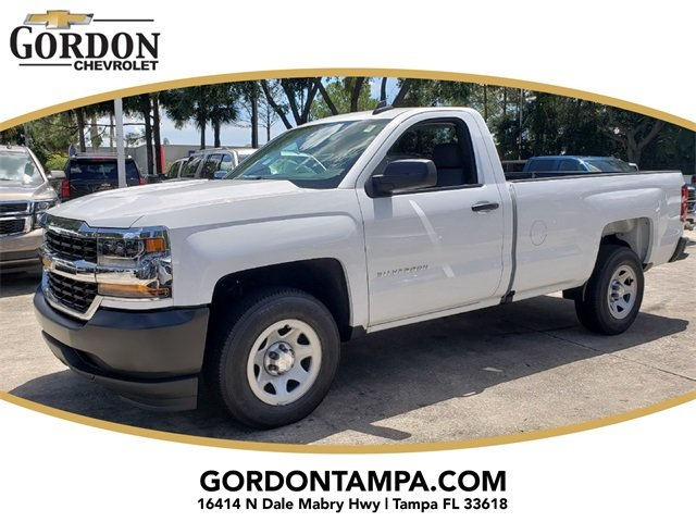 2018 Summit White Chevrolet Silverado 1500 WT RWD Truck 2 Door V8 Engine Automatic