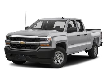 2018 Silver Ice Metallic Chevy Silverado 1500 WT EcoTec3 5.3L V8 Flex Fuel Engine Truck RWD Automatic 4 Door