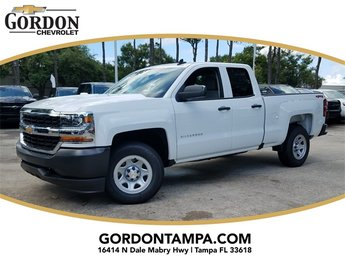2018 Summit White Chevrolet Silverado 1500 WT 4 Door Truck Automatic 4X4 EcoTec3 5.3L V8 Flex Fuel Engine