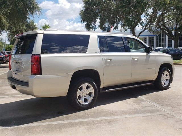 2015 Champagne Silver Metallic Chevrolet Suburban LT, CARFAX CERTIFIED, LEATHER! V8 Engine RWD Automatic SUV