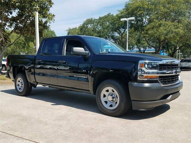 2018 Black Chevy Silverado 1500 WT Truck RWD EcoTec3 5.3L V8 Flex Fuel Engine 4 Door Automatic