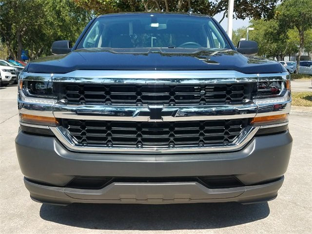 2018 Black Chevy Silverado 1500 WT RWD EcoTec3 5.3L V8 Flex Fuel Engine 4 Door