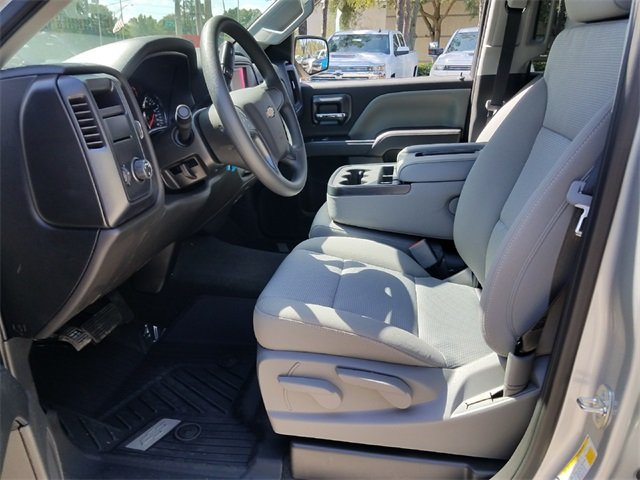 2018 Silver Ice Metallic Chevrolet Silverado 1500 WT RWD EcoTec3 5.3L V8 Flex Fuel Engine 4 Door Truck Automatic
