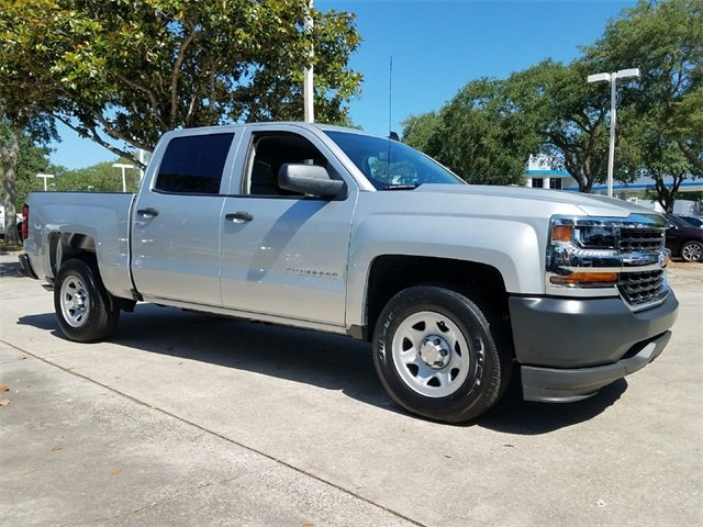 2018 Silver Ice Metallic Chevrolet Silverado 1500 WT RWD Automatic 4 Door