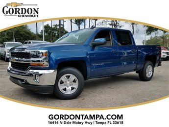 2018 Deep Ocean Blue Metallic Chevrolet Silverado 1500 LT Truck EcoTec3 5.3L V8 Flex Fuel Engine 4X4