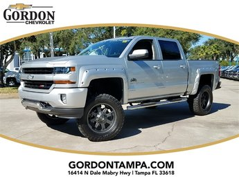 2018 Silver Ice Metallic Chevrolet Silverado 1500 LT 4X4 EcoTec3 5.3L V8 Flex Fuel Engine Automatic 4 Door