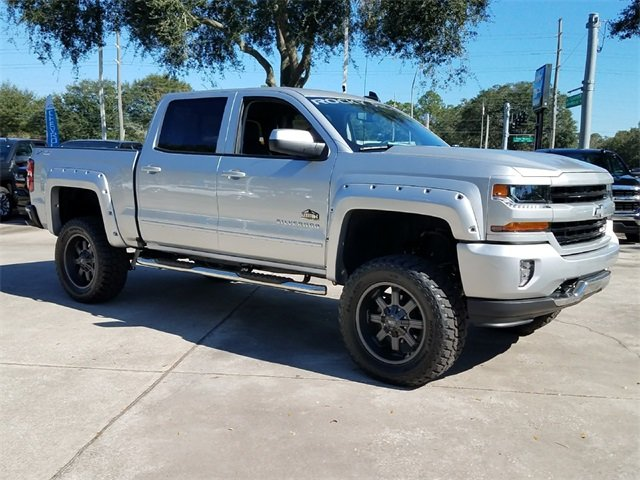 2018 Silver Ice Metallic Chevy Silverado 1500 LT 4X4 Automatic 4 Door EcoTec3 5.3L V8 Flex Fuel Engine Truck