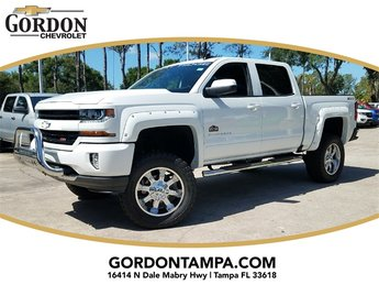2018 Summit White Chevrolet Silverado 1500 LT 4X4 Truck EcoTec3 5.3L V8 Flex Fuel Engine 4 Door Automatic
