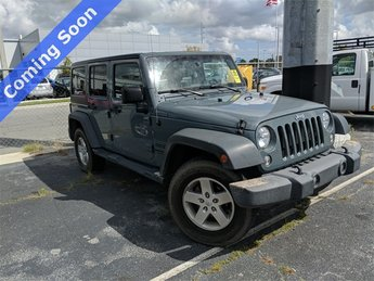 2015 Anvil Clearcoat Jeep Wrangler Unlimited Sport 3.6L V6 24V VVT Engine 4 Door Automatic SUV