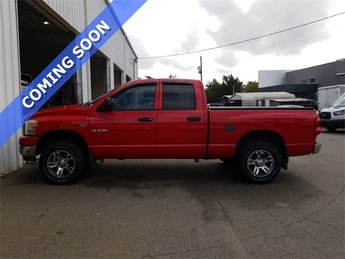 2008 Flame Red Dodge Ram 1500 SLT 4 Door Automatic 4X4 Truck HEMI 5.7L V8 Multi Displacement Engine
