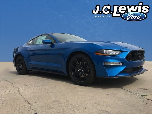 2019 Blue Metallic Ford Mustang GT Premium Coupe RWD 2 Door 5.0L V8 Ti-VCT Engine