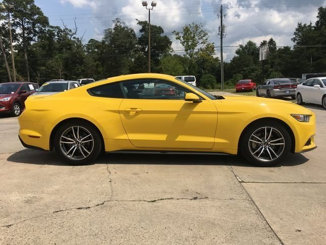 2017 Triple Yellow Tri-Coat Ford Mustang EcoBoost Premium EcoBoost 2.3L I4 GTDi DOHC Turbocharged VCT Engine 2 Door RWD Automatic Coupe