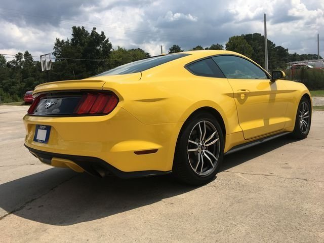 2017 Triple Yellow Tri-Coat Ford Mustang EcoBoost Premium RWD Coupe Automatic EcoBoost 2.3L I4 GTDi DOHC Turbocharged VCT Engine